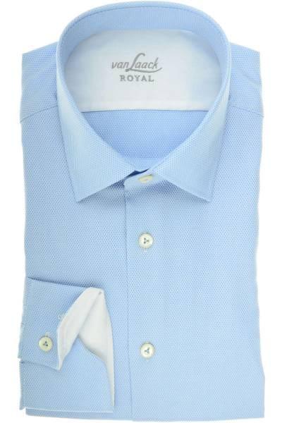 van Laack Tailor Fit Hemd blau, Gepunktet