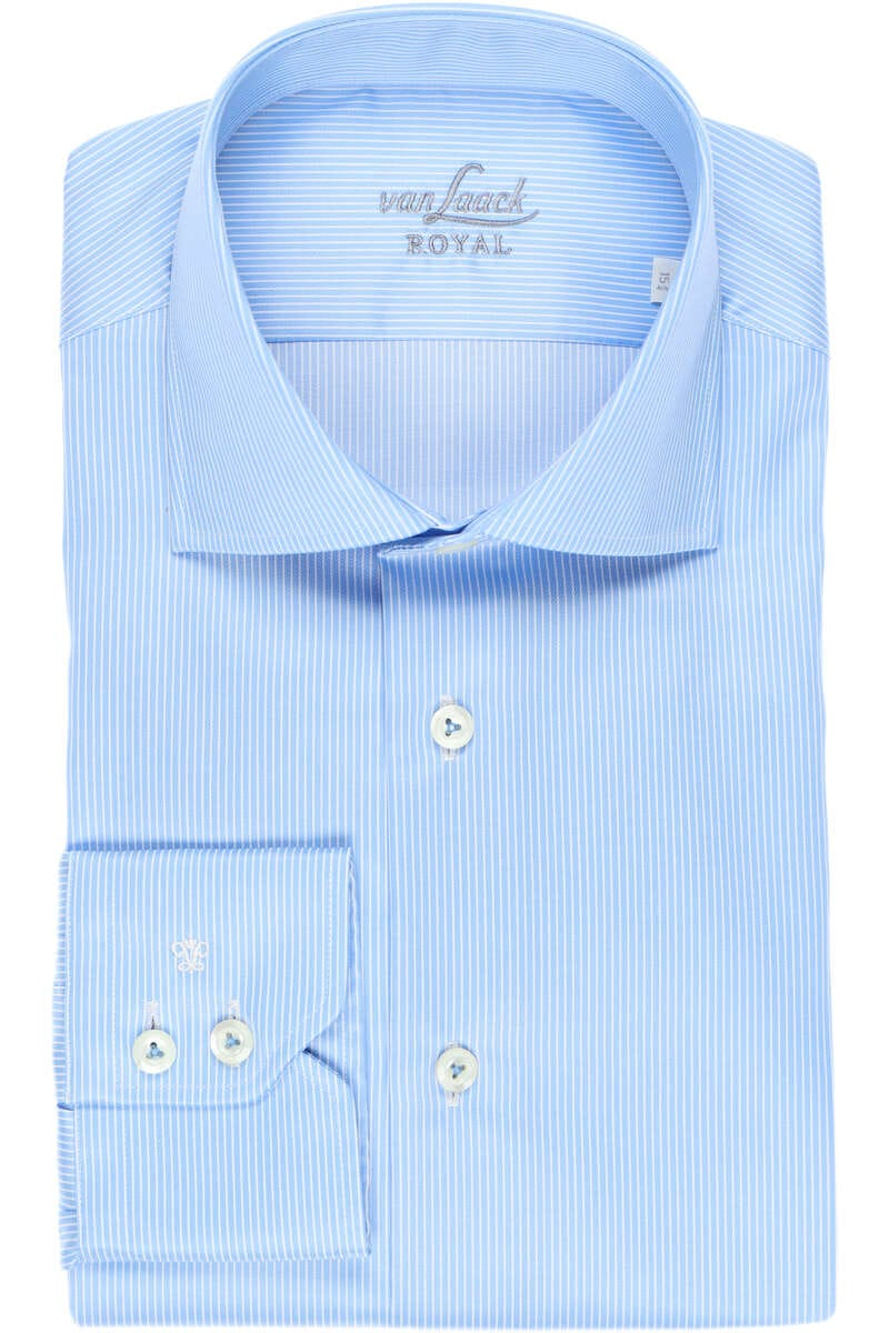 van Laack Tailor Fit Hemd blau/weiss, Gestreift 41 - L