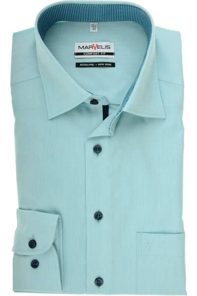 Marvelis Comfort Fit Hemd smaragd, Einfarbig