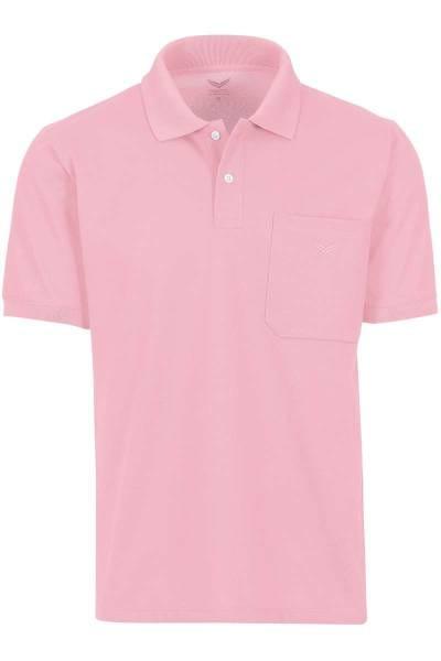 TRIGEMA Comfort Fit Poloshirt rosa, Einfarbig