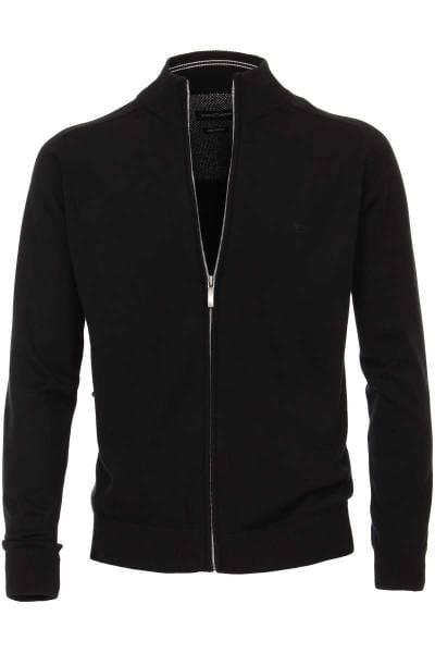 Casa Moda Cardigan schwarz, Einfarbig