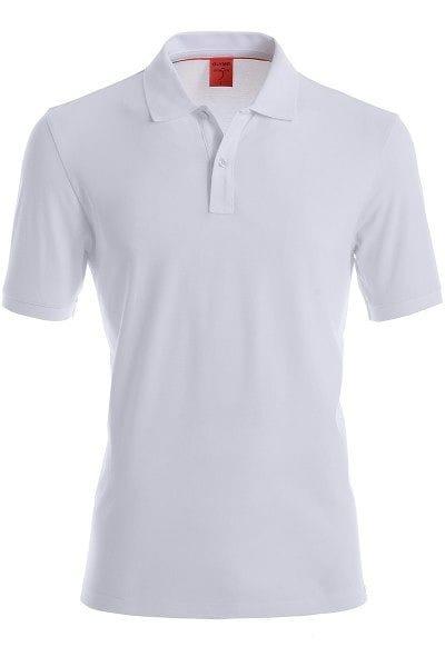 Olymp Poloshirt - Body Fit - weiss, Einfarbig