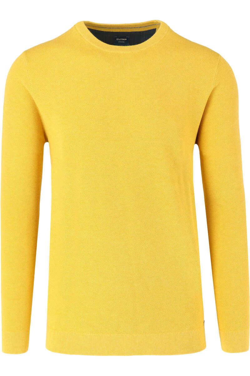 OLYMP Casual Modern Fit Pullover Rundhals gelb, einfarbig M