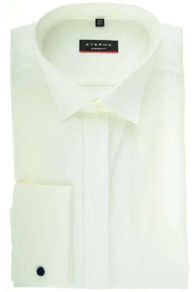 Eterna Hemd - Modern Fit - beige, Einfarbig