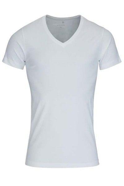 Seidensticker T-Shirt - V-Ausschnitt - weiss, Einfarbig
