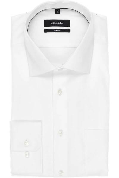 Seidensticker Comfort Fit Hemd weiss, Einfarbig