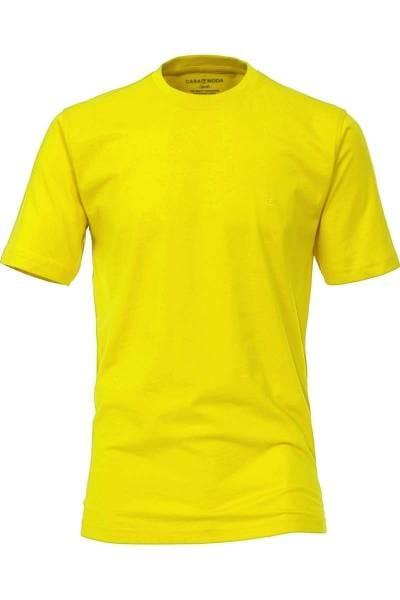 Casa Moda T-Shirt Rundhals gelb, einfarbig