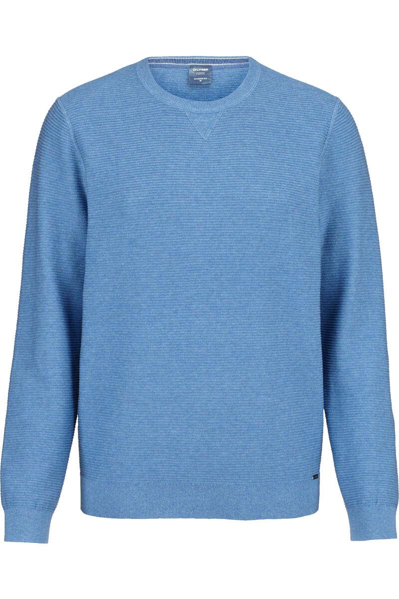 OLYMP Casual Modern Fit Pullover Rundhals bleu, strukturiert L