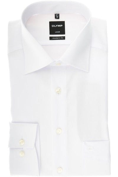 Olymp Hemd - Modern Fit - weiss, Einfarbig