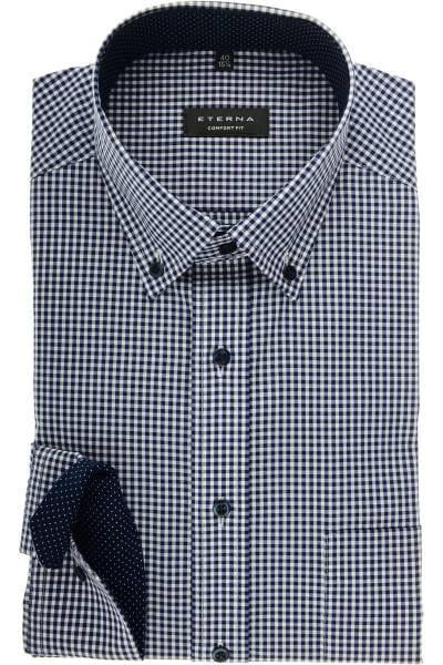 cd5ab3e9ec88 Hochwertiges ETERNA Comfort Fit Hemd in der Farbe marine weiss ...