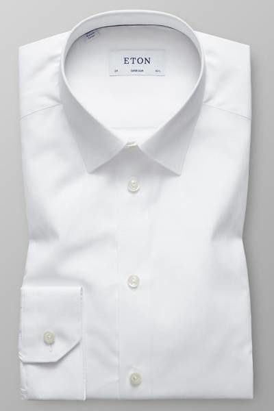 Eton Hemd - Super Slim - weiss, Einfarbig