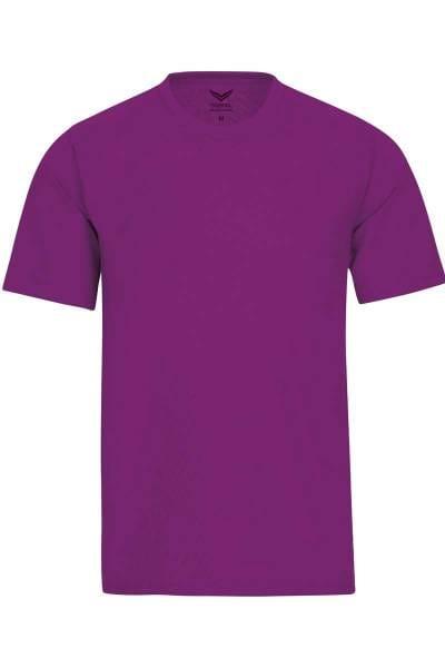 TRIGEMA T-Shirt Rundhals beere, einfarbig