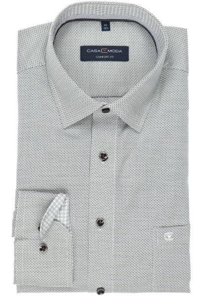 Casa Moda Comfort Fit Hemd anthrazit/schwarz/weiß, Faux-uni