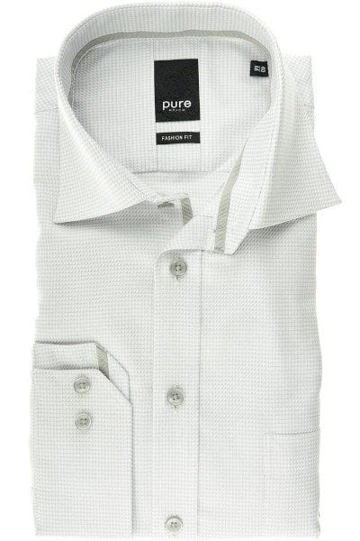 Pure Hemd - Fashion Fit - silber, Einfarbig