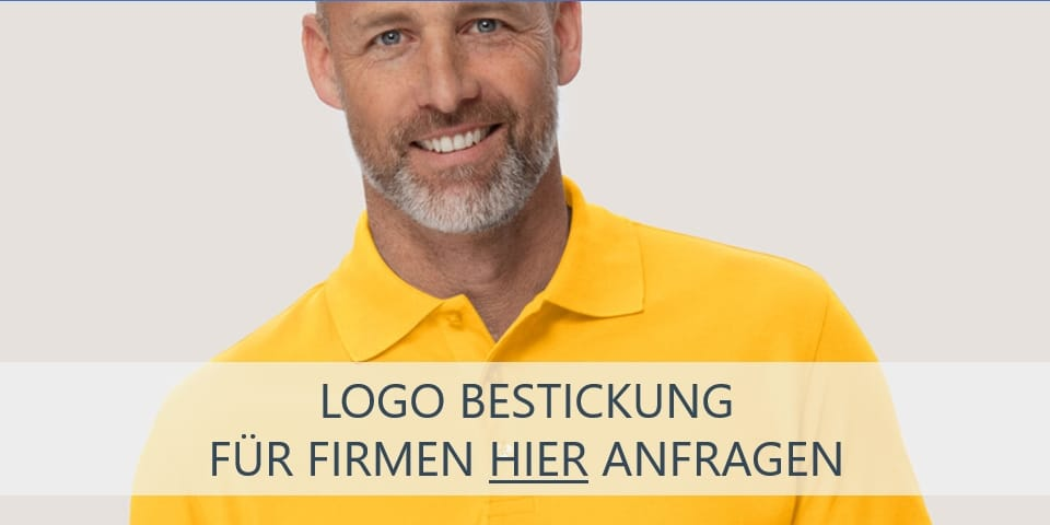 Gelbe Poloshirts besticken lassen