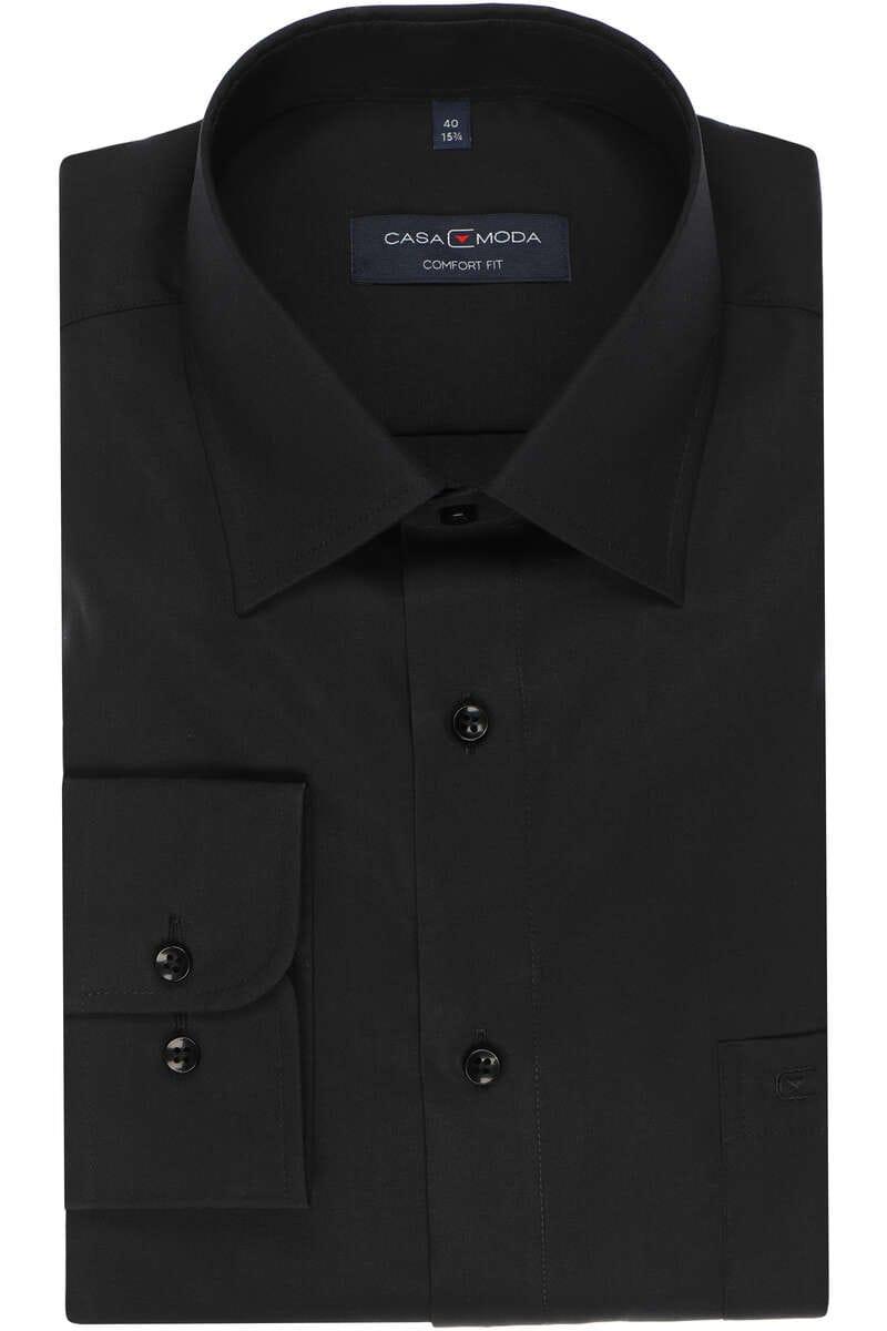 Casa Moda Hemd - Comfort Fit - black, One Colour 36 - XS