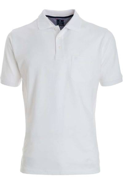 Redmond Casual Poloshirt weiss, Einfarbig