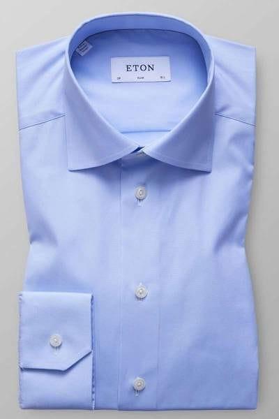 Eton Hemd - Slim Fit - hellblau, Einfarbig
