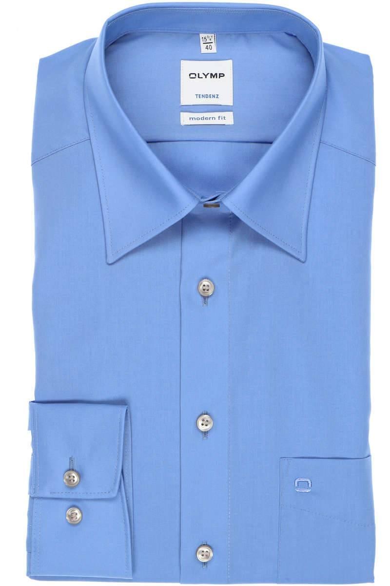 OLYMP Tendenz Modern Fit Hemd blau, Einfarbig