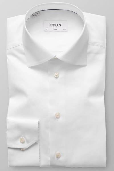 Eton Hemd - Slim Fit - weiss, Einfarbig