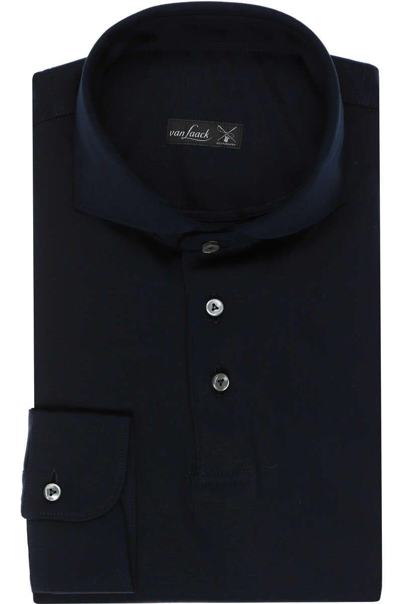 van Laack Slim Fit Jerseyhemd navy, Einfarbig M