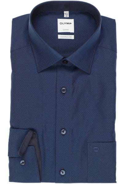 Olymp Luxor Comfort Fit Hemd marine, Faux-uni