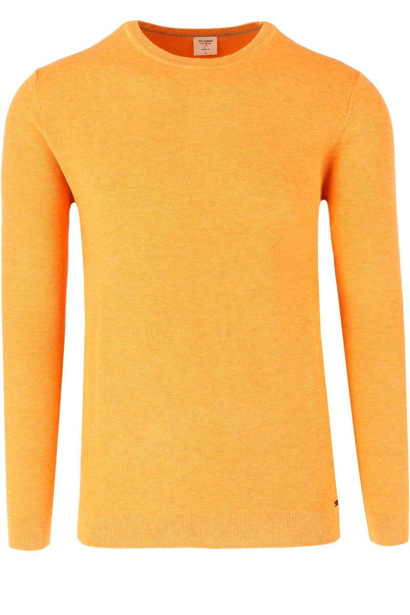 OLYMP Level Five Body Fit Pullover Rundhals orange, einfarbig M