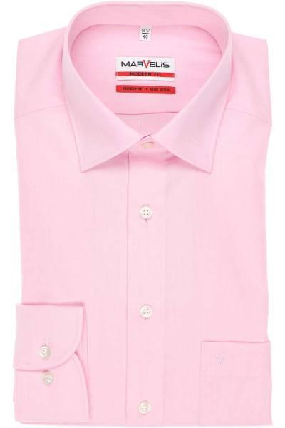 Marvelis Hemd - Modern Fit - rosa, Einfarbig