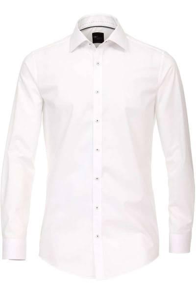 Venti Body Fit Hemd weiss, Einfarbig