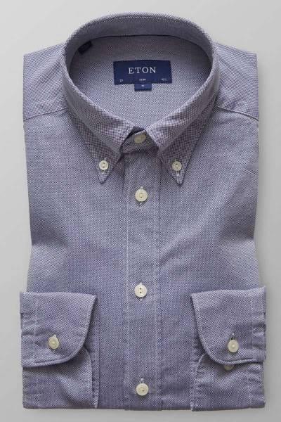 ETON Slim fit Hemd navy, Einfarbig