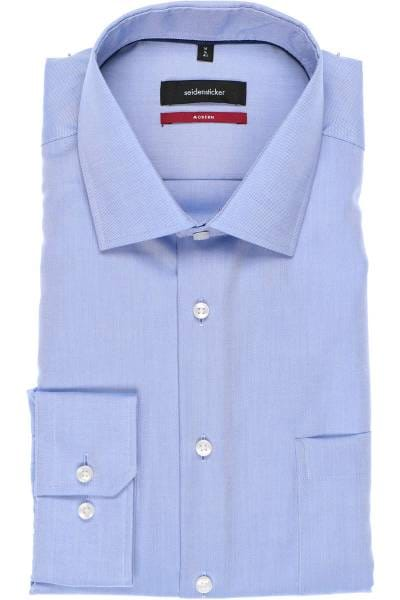 Seidensticker Modern Fit Hemd hellblau, Strukturiert