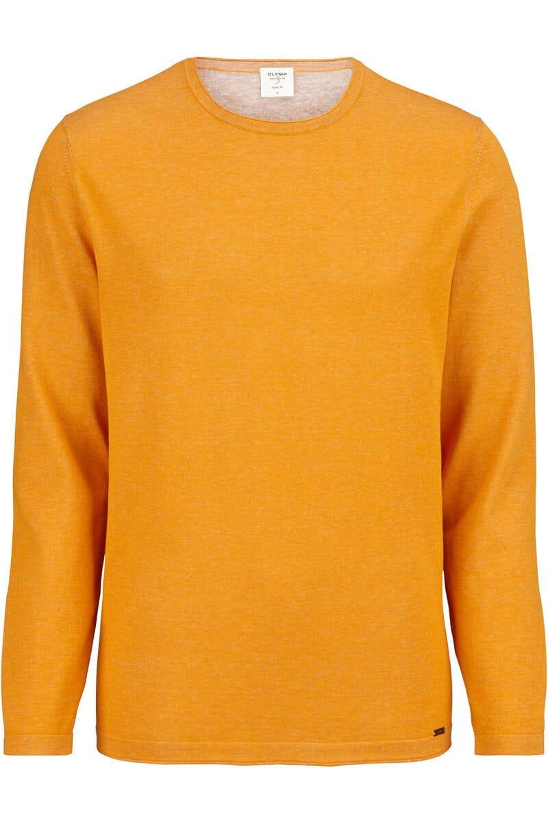OLYMP Level Five Body Fit Longsleeve Rundhals gelb, einfarbig M