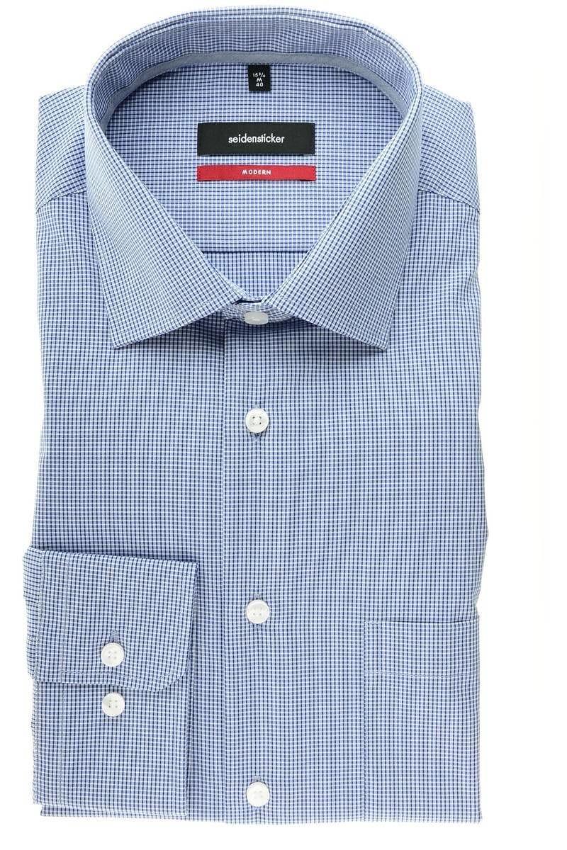 blau Seidensticker Hemd Splendesto modern langarm