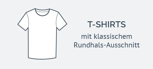 Rundhals Marken T-Shirts