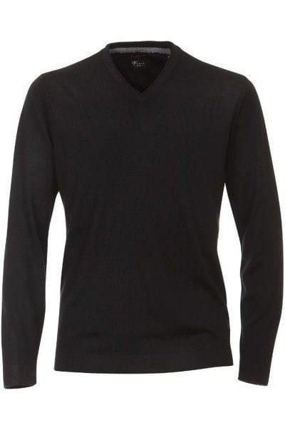 Venti Strick - V-Ausschnitt Pullover - schwarz