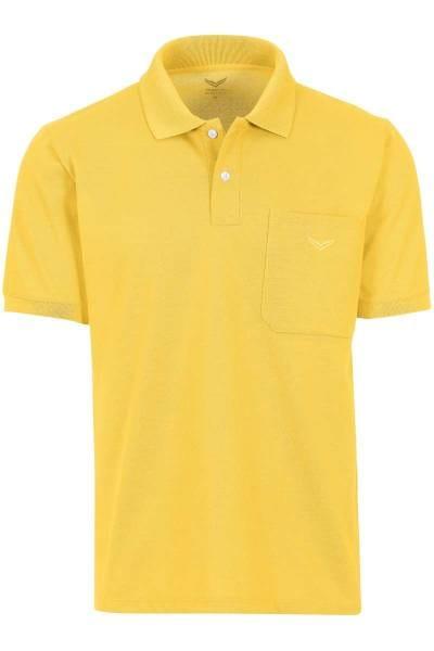 TRIGEMA Comfort Fit Poloshirt gelb, Einfarbig