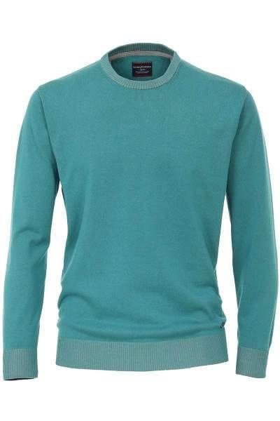 Petrol Farbe hochwertiger casa moda strickpullover in der farbe petrol einfarbig
