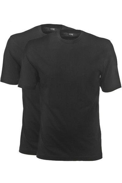 Olymp T-Shirt - Rundhals - schwarz, Einfarbig