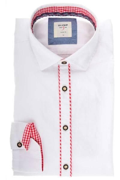 OLYMP Level Five Body Fit Trachtenhemd weiss, Einfarbig