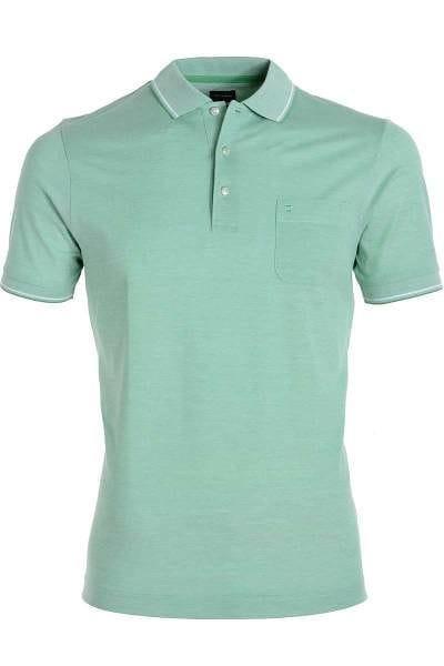 Olymp Modern Fit Poloshirt grün/weiss, Zweifarbig