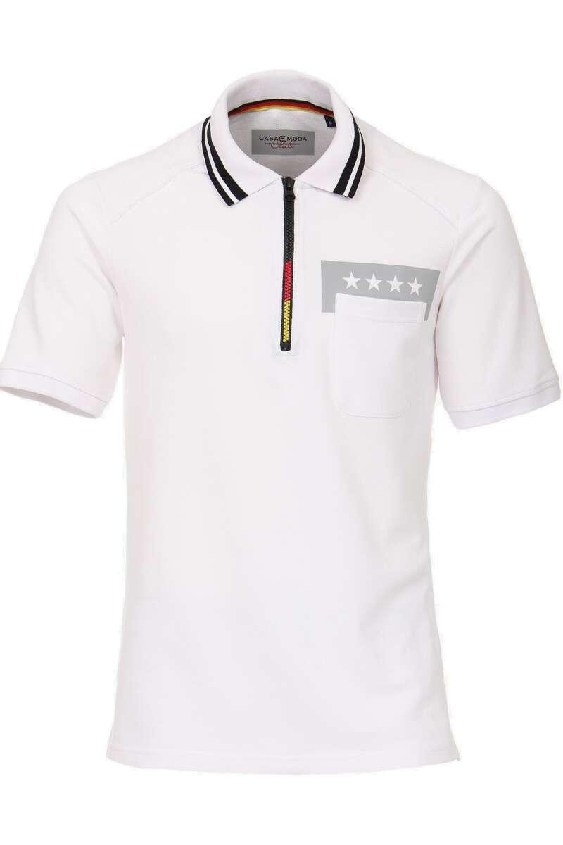 Casa Moda Poloshirt weiss, Einfarbig M