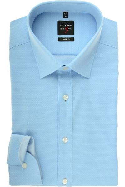 6c4ef849 Hochwertiges Olymp Level Five Body Fit Hemd in der Farbe bleu, Faux ...