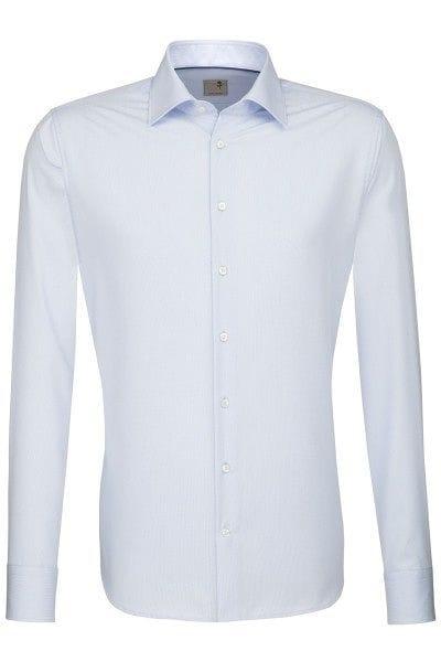 Seidensticker Hemd - Tailored - hellblau, Strukturiert