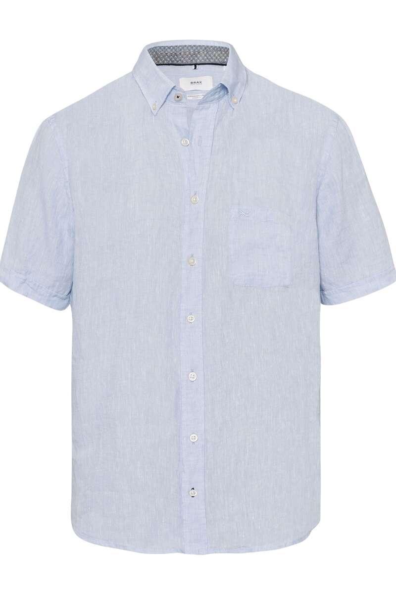 Brax Modern Fit Leinenhemd bleu, Einfarbig L