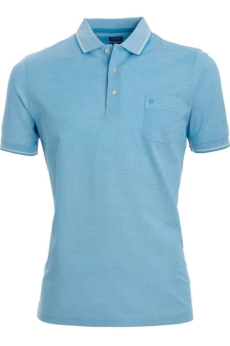 OLYMP Casual Modern Fit Poloshirt bleu, Einfarbig