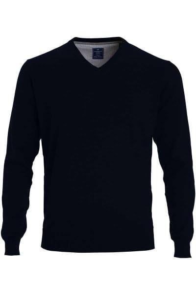 Redmond Strickpullover V-Ausschnitt schwarz, einfarbig