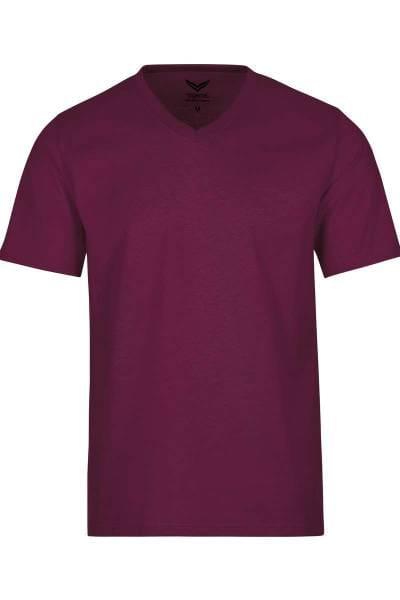 TRIGEMA T-Shirt V-Ausschnitt violett, einfarbig
