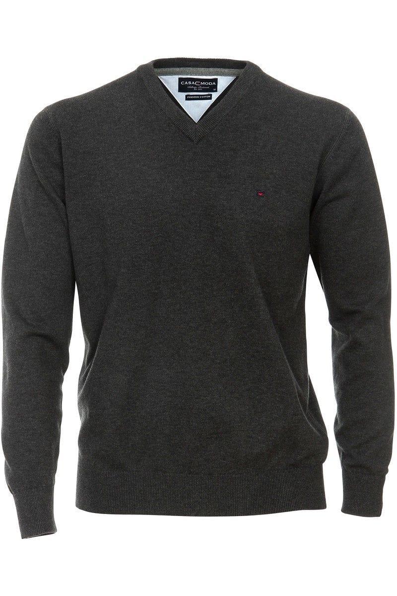 Casa Moda Knit Wear - V-Neck Pullover - graphite