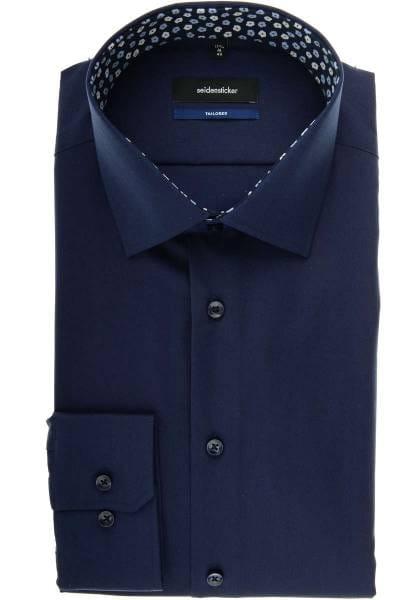 Seidensticker Tailored Hemd marine, Einfarbig