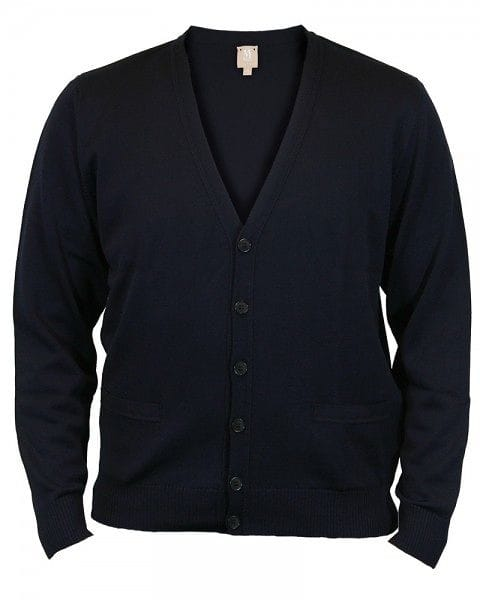 März Strick - Cardigan - navy - 100% Merino Superwash